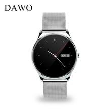 DAWO Smartwatch 9.8mm Semicircular Screen Smart Watch Heart Rate Monitor Passometer Sleep Tracker For IOS Android PK k88h GW01