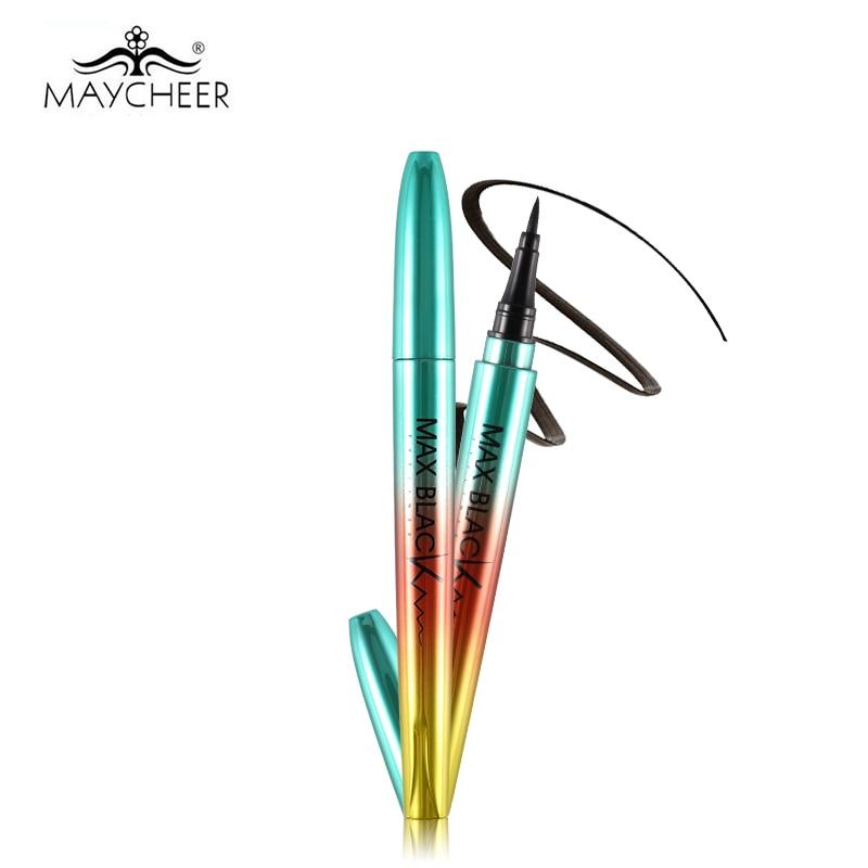 MAYCHEER 24H professionel sort eyeliner blyant vandtæt glat pensel - Makeup - Foto 3