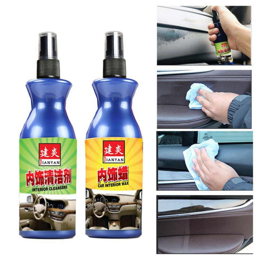 Car Refurbished Agent Interior Trim Leather Plastic Care Maintenance Cleaner Car Wax Auto Liquid Cleaners 100ml  2.26