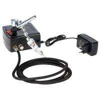 0.3 mét Dual Action Airbrush spray gun Air Compressor Kit aerografo cho Bức Tranh Nghệ Thuật Tattoo Làm Móng Tay Bánh Mô Hình Phun Nail công c