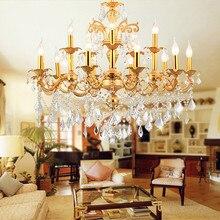 kristal kroonluchter gold vintage