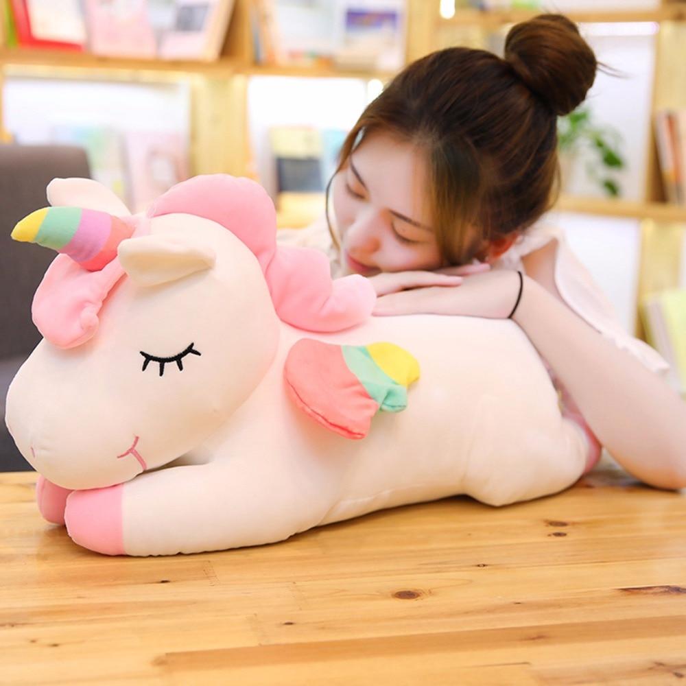Cute Rainbow Style Unicorn Doll Plush Toys, Children's Toys Stuffed Unicorn, Baby Soothe Toys, Birthday Gifts