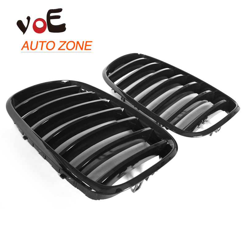 2007-2013 Kidney Shape Gloss Black ABS Plastic E70  E71 Original Style X5 X6 Front Racing Grill Grille for BMW E70 X5 BMW E71 X6 e70 black abs kidney racing grille for bmw 2007 2013 x5 series e70