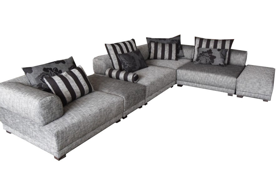 Free Shipping 2013 Modern Design L Shaped Corner Fabric Sofa Best Living Room Furniture