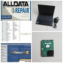 Top-rated alldata software + Mithcell on Demand 2015 for auto repair software in 1000gb hdd installed in super fast laptop t410