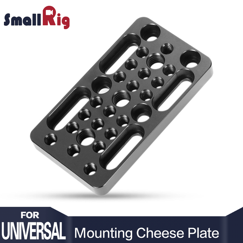 SmallRig Video Switching Cheese Plate Cámara Easy Plate para Railblocks, cola de milano y varillas cortas para cámara réflex digital Rig Rack 1598