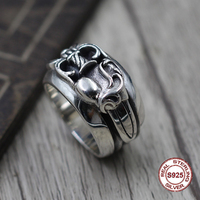 S925 pure silver men's ring personality retro The punk style The holy sword heart of the pop classic ring Gift to your lover