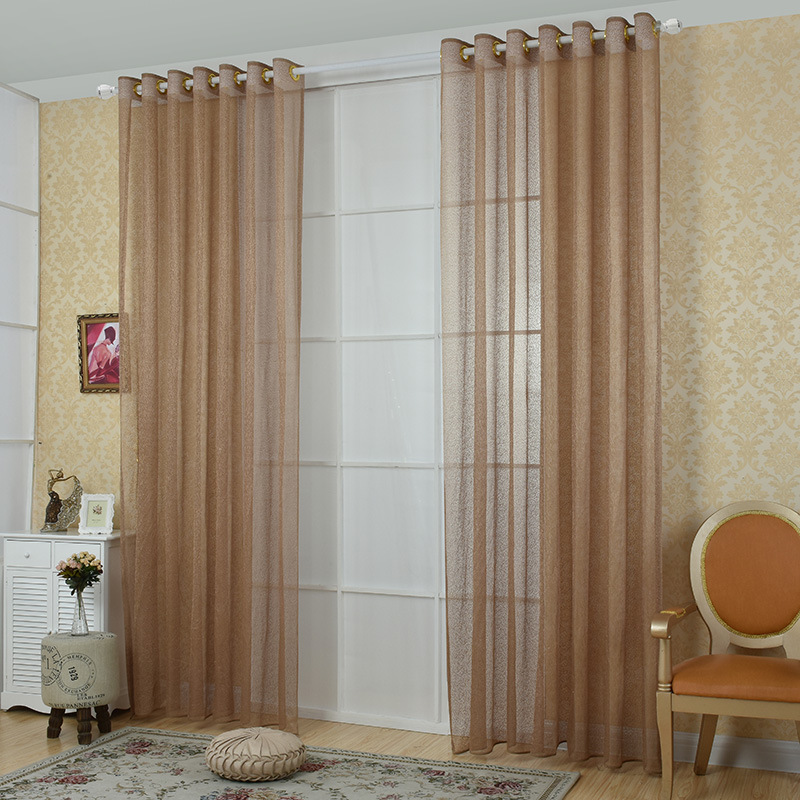 living room panel curtains modern mesh design voile curtains for living room kitchen 15500