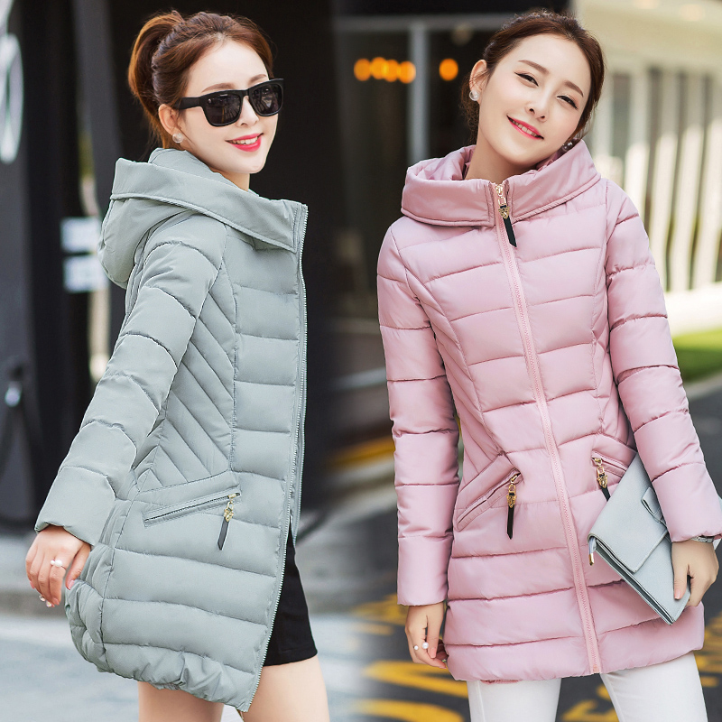 2017 winter new 20-25-30-35 year-old women's down jacket cotton Korean version of the camouflage coat Hooded coat 2017 winter coat grandma installed in the elderly women 60 70 80 years old down jacket old lady tang suit