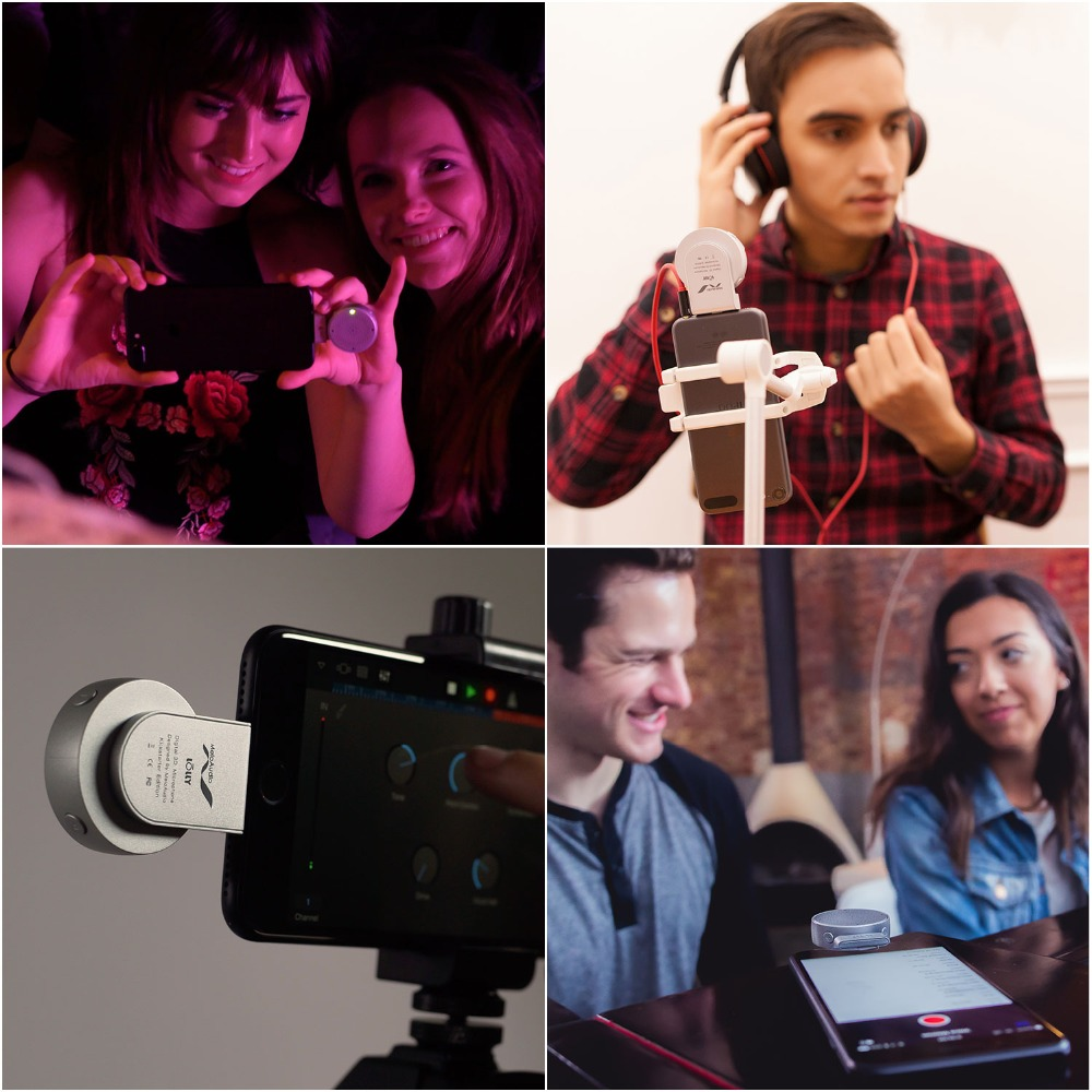 Image 4 - 3D Microfono Stereo Per Il Telefono iOS 9 A 12 Dispositivi iPhone  iPod Registrazione Karaoke Microfono Senza Fili Professionale Microfono  A Condensatore-in Microfoni da Elettronica di consumo su