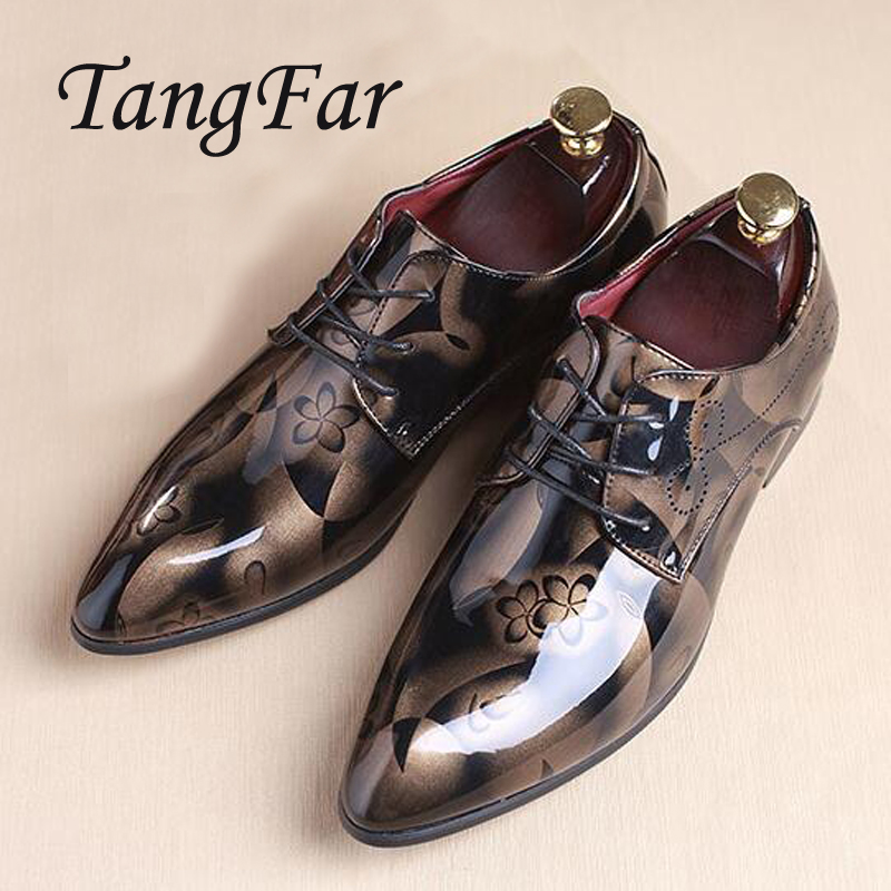 b0c311ab42 Men Shoes Patent Leather Pointed Toe Oxfords Shoes Men Designer Shoes  Casual Breathable Big Size 48 47 46 45 Mens Dress Shoes