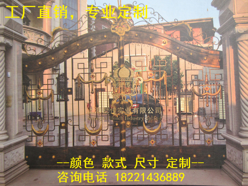 Custom Made Wrought Iron Gates Designs Whole Sale Wrought Iron Gates Metal Gates Steel Gates Hc-g8