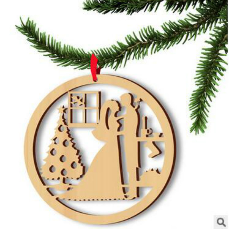 aliexpresscom buy 2018 navidad wooden fantasy couple christmas tree decorations christmas decorations for home from reliable decorations for home - Wooden Christmas Tree Decorations