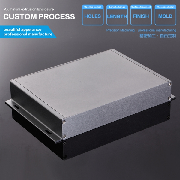 229-35-150 mm (W-H-L) Saver Black Aluminum Electronic Enclosure Case Project DIY Box 215 52 263 mm w h l aluminum extruded enclosures housing project box case