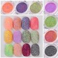1 Caja de Uñas Arena Azúcar Mezclado Polvo Del Brillo Del Clavo de la Manicura de Uñas de Arte Polaco Glitter Decoraciones Brillos de Colores 12 Colores