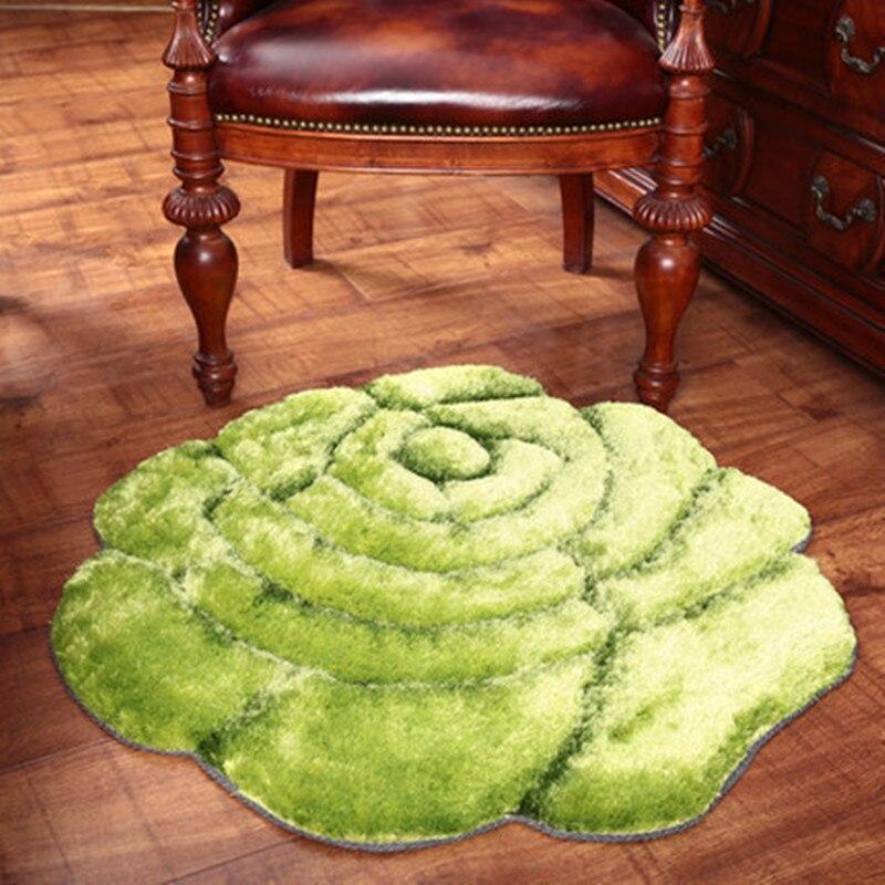 Tapis de maison de luxe de haute qualité 3D motif Rose rouge tapis de décoration de mariage pour salon chambre tapis épaissir tapis de salon - 5