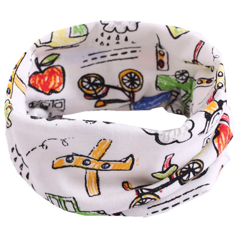 Новинка; сезон осень-зима; шарф из хлопка для девочек; Детский шарф; нагрудный шарф для мальчиков и девочек с круглым кольцом; милый детский шарф с воротником; Bufandas - Цвет: bike A
