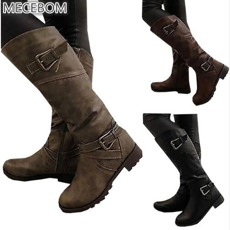 2018 Newest Women Boots Thigh High Boots brand Wearing Simple Style Sexy mid calf Boots High Heels Shoes Woman plus size B027W цена