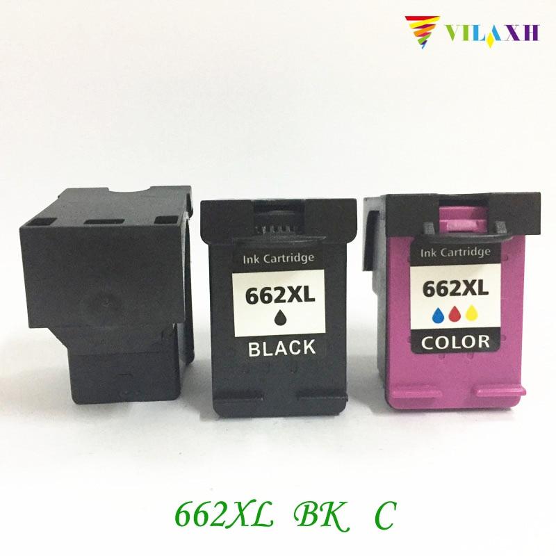 Vilaxh 662XL Substituição do Cartucho de Tinta Compatível Para HP 662XL 662 xl Deskjet 1015 1018 1518 2645 3545 2515 2548 2648 impressora