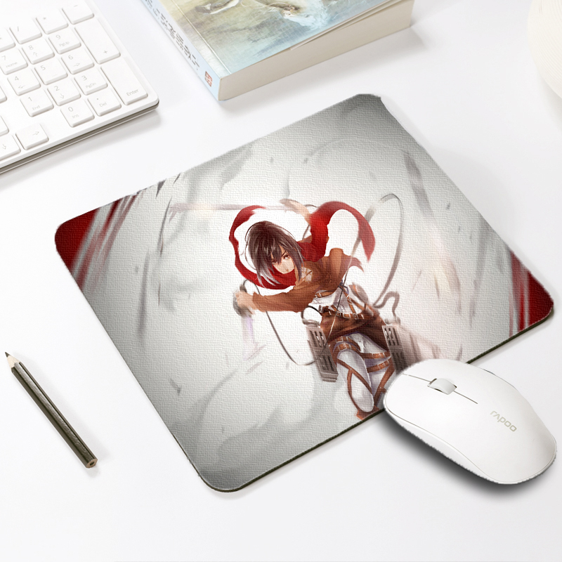 Mairuige Anime Soft Mats Attack on Titan Mikasa Ackerman Mouse Pad Mats Pc Game Keyboard Notebook Mice Mats Pads Table Mousepad