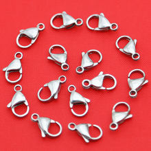 Jewelry Accessories 316 Stainless Steel Silver Lobster Clasps Claw Jewelry Hook Findings for Lobster Ring Necklace(China)