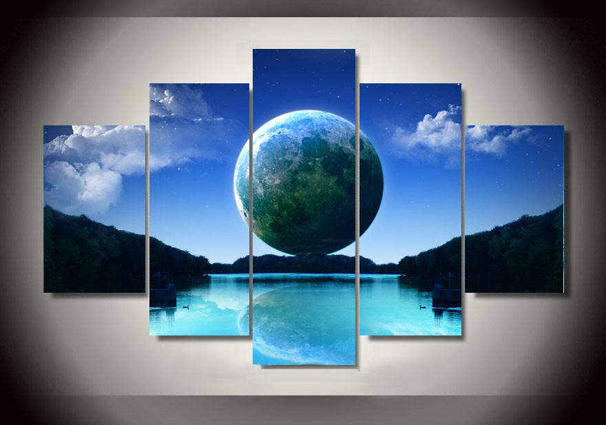Modern Painting Printed On Canvas Earth Painting Cheap Price Wall Art For Living Room Home Decor