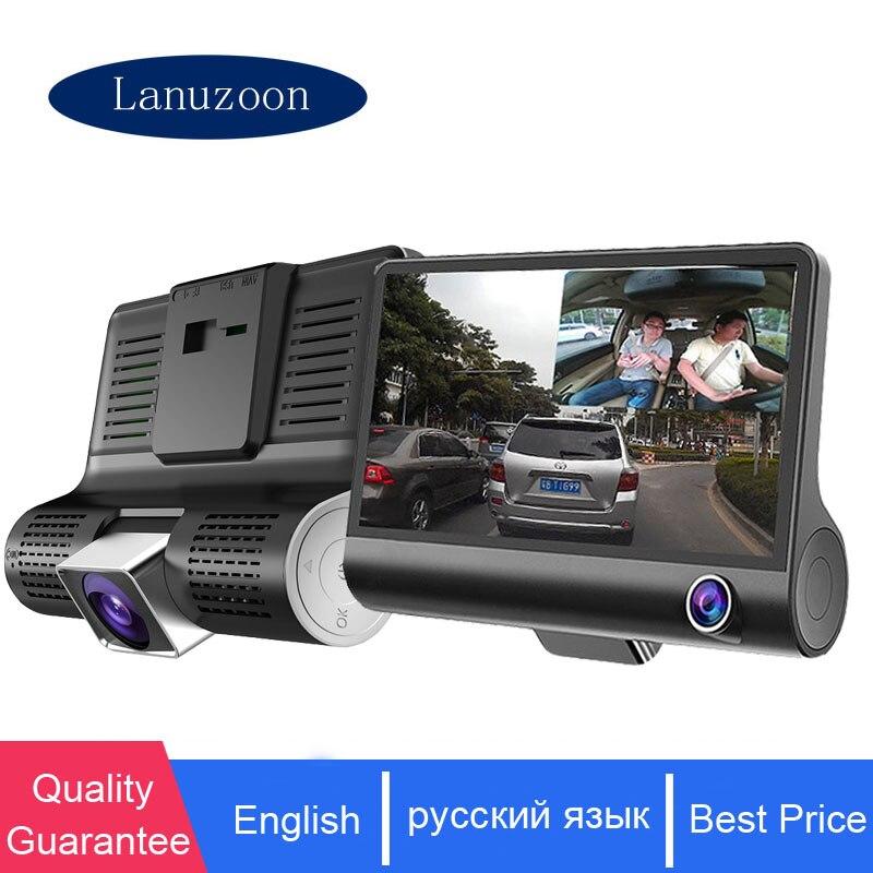 Car DVR Video-Recorder Rearview-Camera Dash-Cam 3-Cameras-Lens Auto-Registrator-Dvr