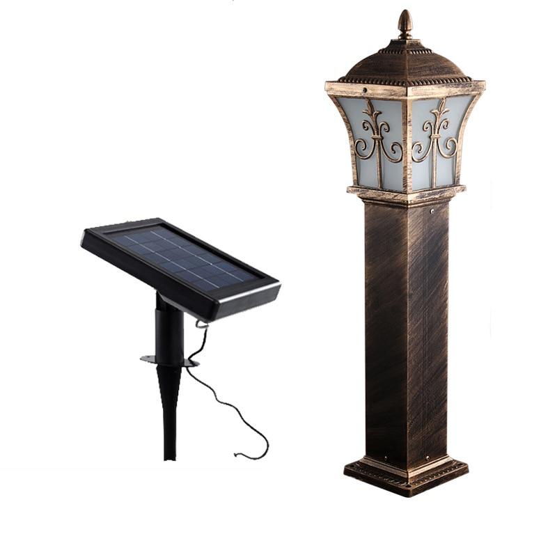 Solar Power landscape Light lawn sward garden Aluminum outdoor Garden lawn square pillar post light bollard lamp