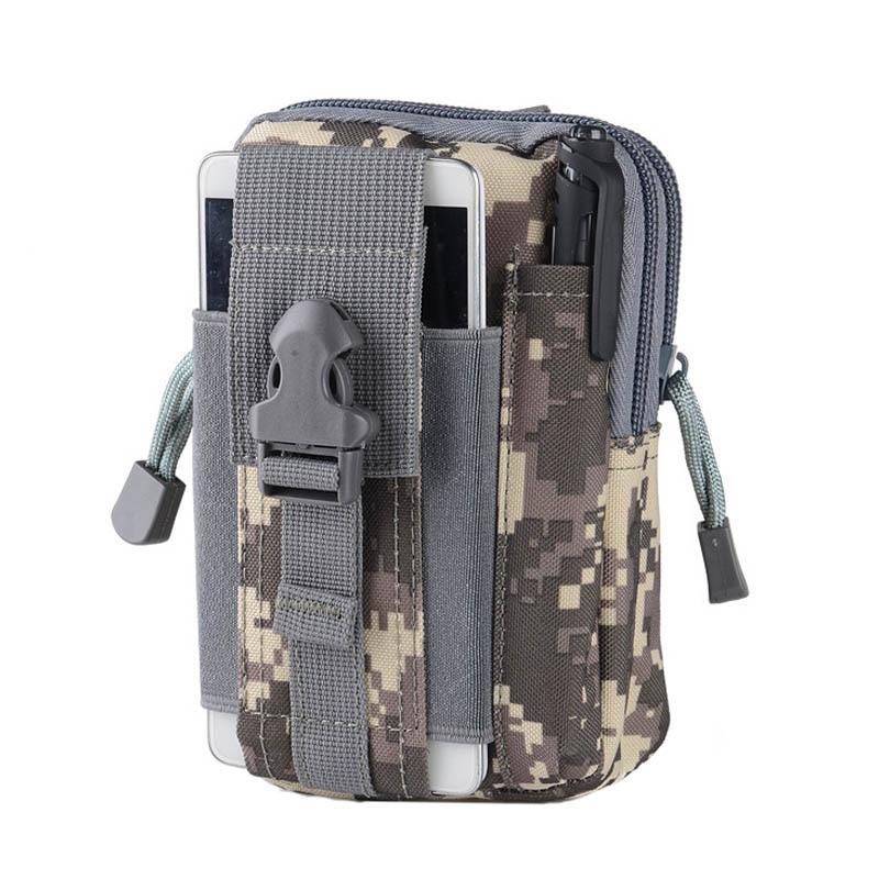 Men Women Military Tactical Waist Belt Bag Waterproof Outdoor Camping Climbing Pocket Pouch Purse Phone Case ASD88 in Climbing Bags from Sports Entertainment
