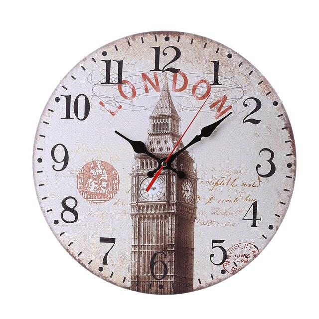d8488043ef5 US $7.6 |Retro Jam Dinding Jam Kuarsa Ruang Tamu Gantung Hiasan Dinding  Ornamen Diam Jam Rumah Deco 2018 Hot 23 di Wall Clocks dari Rumah & Taman  ...