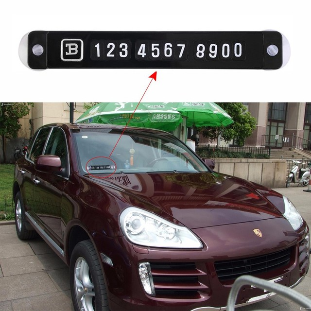 Hot sale universal temporary car parking card magnetic phone number card plate sucker car sticker for