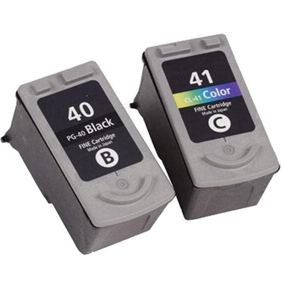 for Canon Compatible ink cartridges for canon PG 40, CL 41 for Canon PIXMA MP160 MP140 With full ink chips and printer head
