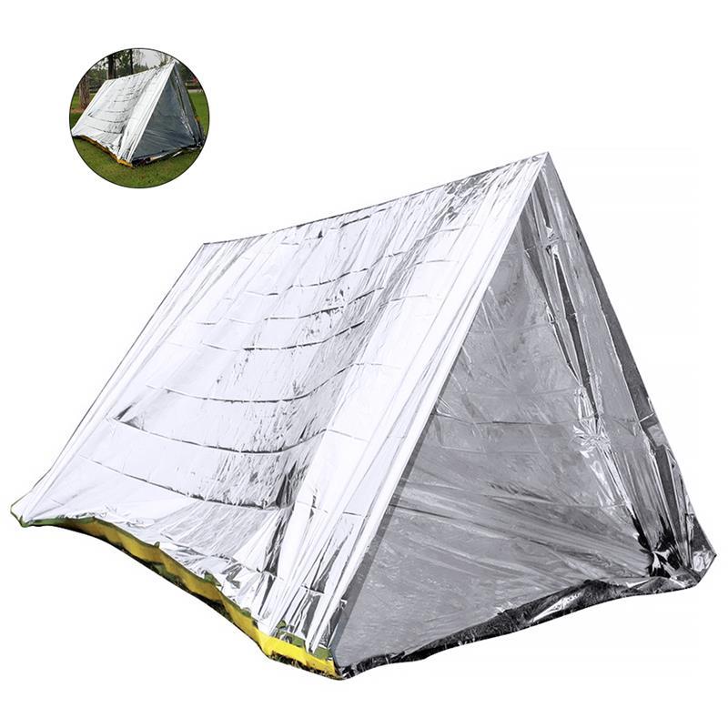 RUNACC Notfall Shelter Überleben Shack Notfall Zelt für Wandern Camping und Kalten Temperatur Umgebungen Silber