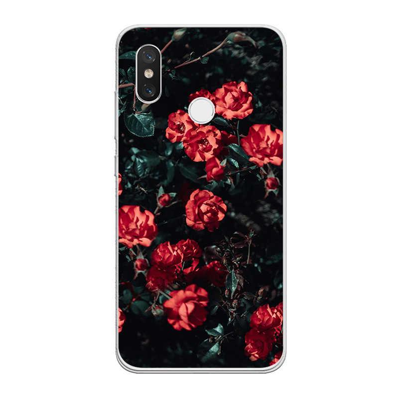 ciciber Flower Rose for Xiaomi 9 8 6 5 A2 A1 X 5C 5S Plus Lite SE Poco Phone F1 Soft TPU Case for Xiaomi MIX MAX 3 2 2s Pro Capa