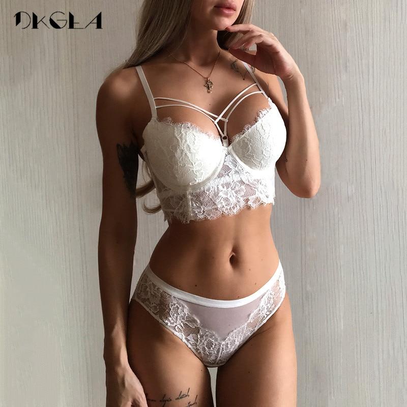 New Top Sexy Underwear Set Green Bras Cotton Brassiere Women