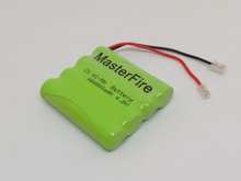 MasterFire New Original Ni-Mh 4.8V AAA 800mAh Battery Rechargeable Batteries Pack With Plugs