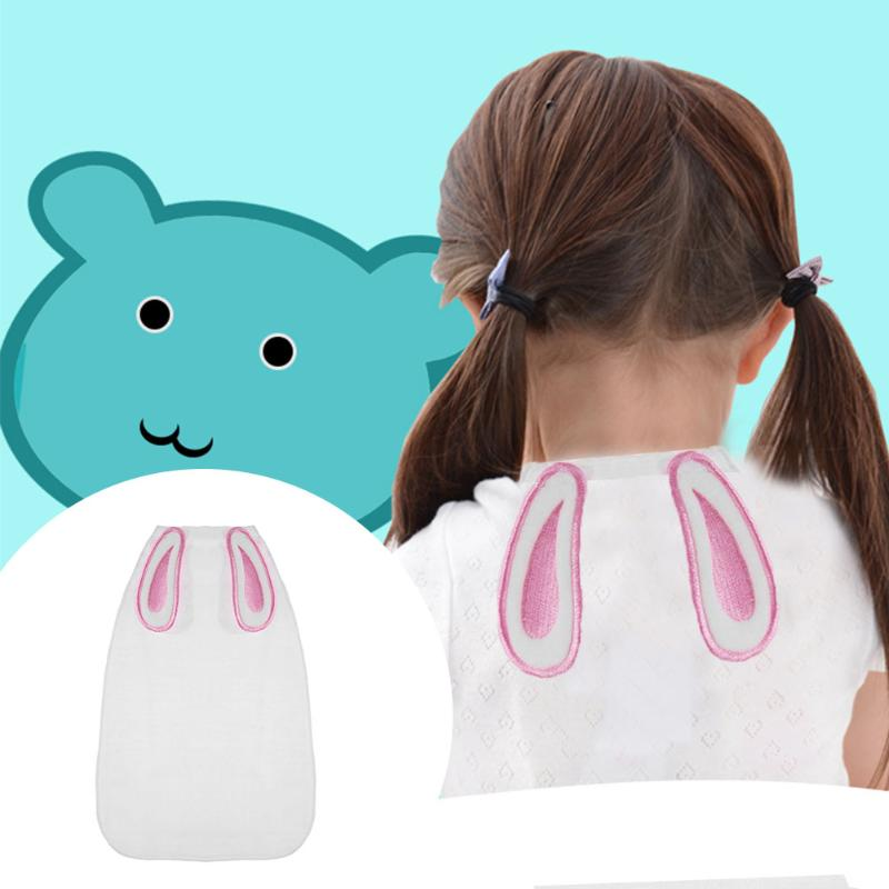 Baby Towel Washable Angel Wings Four Layers Gauze Sweat Absorption Baby Back Towel Cartoon Bunny Ears Infant Hand Face Towel