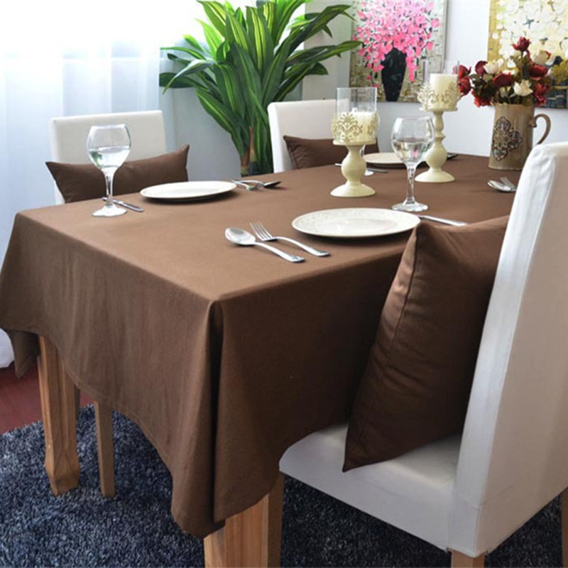 Charming Free Shipping European Coffee Dustproof Tablecloths Modern Nice Quality  Cotton For Weddings Hotel Kitchen Rectangle Table