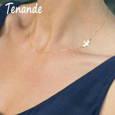 Tenande Đơn Giản Phong Cách Vàng Màu Xương Đòn Dây Chuyền Chuỗi Animal Peace Chim Bồ Câu Dây Chuyền & Mặt Dây đối với Đảng Nữ Jewelry Bijoux