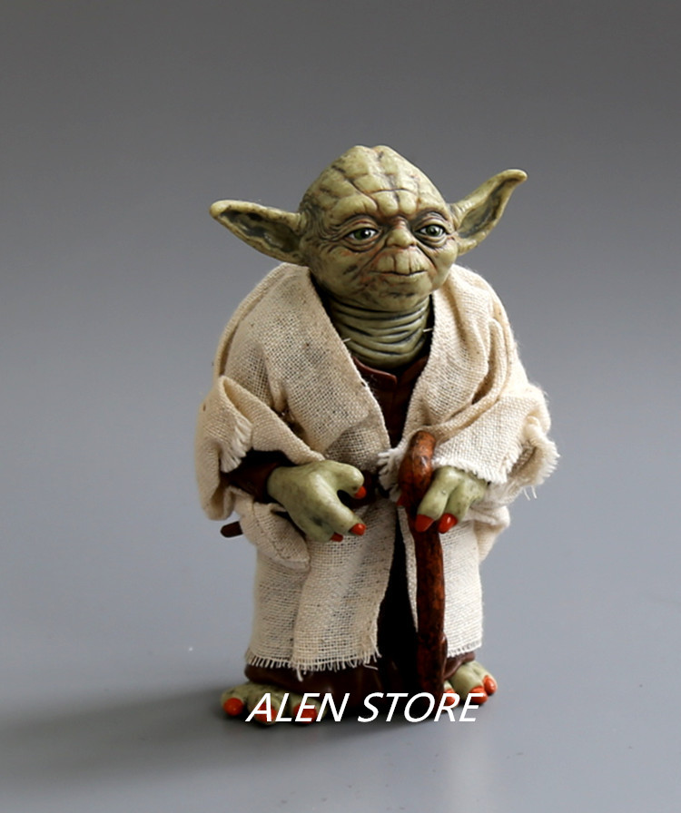 ALEN Star Wars Jedi Knight Master Yoda PVC Action Figures Toys Collection Brinquedos Great Gifts for Kids 5 12cm opp bag