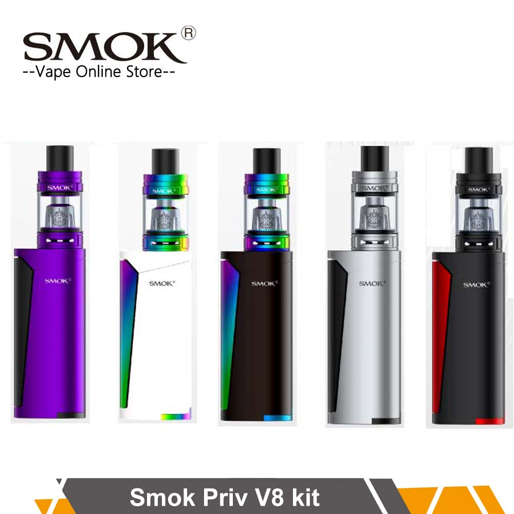 все цены на Authentic SMOK Priv V8 Kit with TFV8 Baby Tank 3ml Atomizer & Priv V8 Mod 60W Mod Vape E-Cigarette Kit VS Procolor Kit Mag kit
