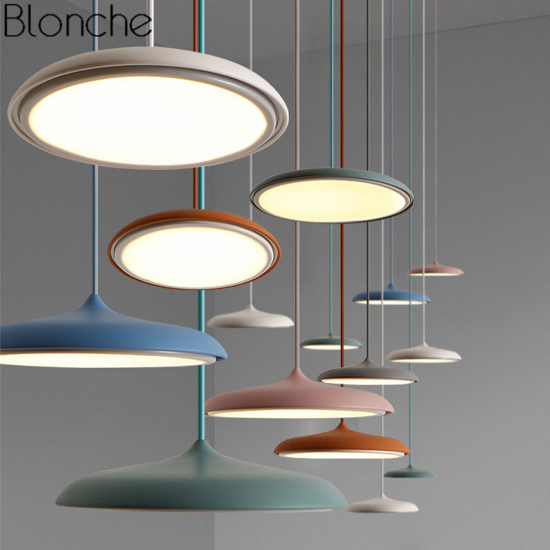 Led Pendant Lights UFO Round Hanging Lamp Modern Art Home Decor Lighting Fixtures For Dining Room Bedroom Kitchen Lamp Luminaire led crystal pendant lights for dining room kitchen restaurant lighting modern pendant lamp indoor led fixtures luminaire light