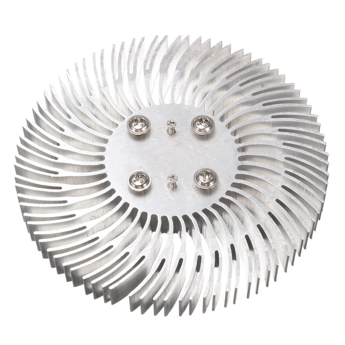 1pc Mayitr Round Spiral Aluminum Heatsink Cooler Led Heat Sink Radiator 90*10mm For 10W High Power LED Light Lamp