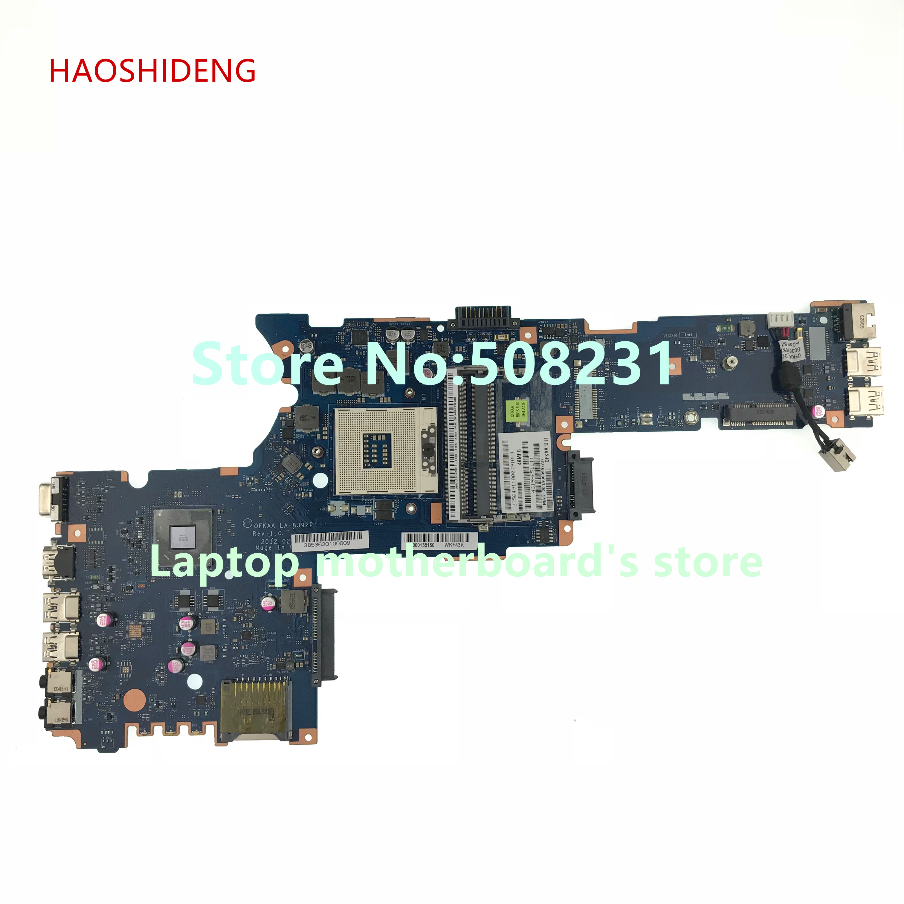 HAOSHIDENG K000135160 QFKAA LA-8392P Mainrboard For Toshiba satellite P850 P855 laptop motherboard fully Tested цена и фото