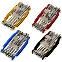 11 In 1 Bike Tools Bicycle Repairing Set Repair Tool Kit Wrench Screwdriver Chain Carbon steel bicycle Multifunction