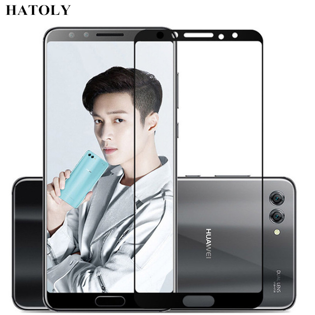 HATOLY Tempered Glass Huawei Nova 2s Glass 9H Full Coverage Film Screen Protector for Huawei Nova 2s Glass for Huawei Nova 2s