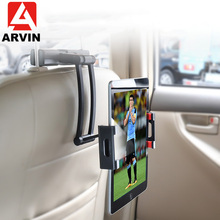 Arvin Aluminum Tablet Car Holder For iPad Air Mini 2 3 4 Pro 12.9 Back Seat Headrest 5-13 Inch Tablet Phone Stand For Iphone X 8 floveme tablet headrest bracket car back holder mount stand holder capa for ipad mini 2 3 4 air pro xiaomi chuwi lenovo pad case