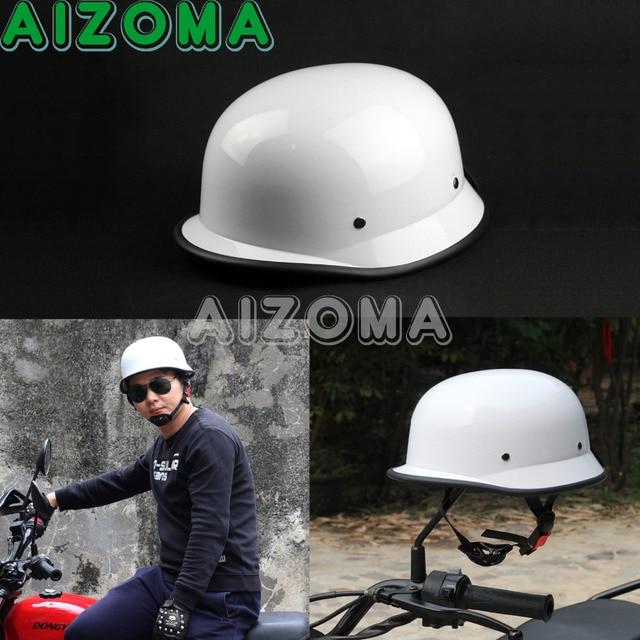 US $9 5 5% OFF|1pcs High Quality ABS Plastic White Universal Helmet  Motorcross Capacete German Half Helmet For Harley Cruiser Touring  Scooter-in