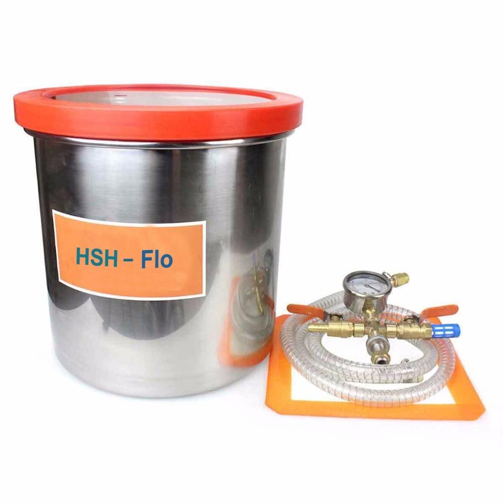3 Gallon 12L Vacuum Chamber Kit 250MM 9 8 Aluminum Alloy Vacuum Degassing Chamber Acrylic Lid