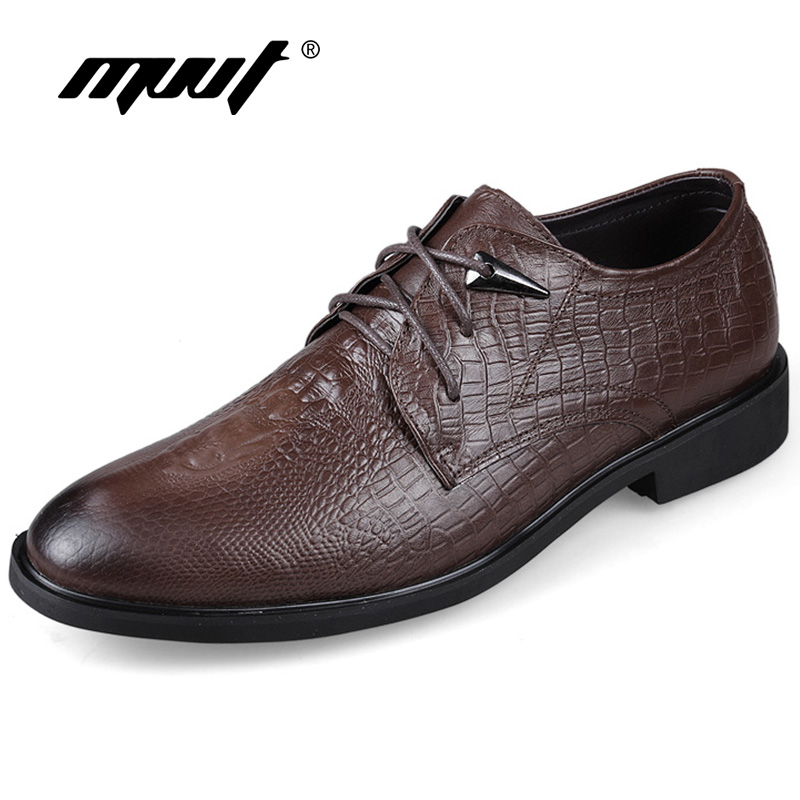 MVVT Plus Size Crocodile Print Men Oxfords Fashion Pointed Toe Dress Shoes High Quality Business Men Shoes Solid Men Flats Shoes цена 2017